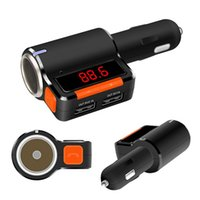 Wholesale BEST Bluetooth Car Kit Handsfree FM Transmitter A2DP Stereo Music MP3 Player with LED Display Car Charger Dual USB