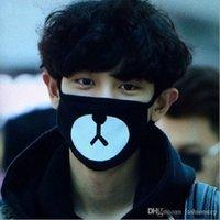 al por mayor coreano contra el polvo-Nuevo estilo coreano unisex Kpop Oso Negro Ciclismo anti-polvo de algodón boca máscara facial respirador