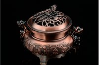 art dao - Medium Alloy censer Buddhist Incense Metal with Sandalwood incense tower incensory Xiang Dao with slice Incense cone Arts and Crafts