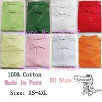Wholesale Made in Peru gavials camisas jacare Pique Cotton Men Casual Classic polos CASUAL Mes polos shirt Short sleeved shirt plus size XXXL XL