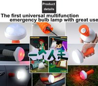 alarms metal cans - Seven Neon sets fashion Portable leds W universal multifunction led bulb lamp with alarm can adsorbed on any metal surface