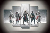 Wholesale 5 Piece No Framed HD Printed Game assassins creed Painting Canvas Print room decor print poster picture canvas