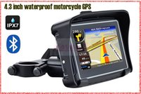 Wholesale waterproof bicycle motorbike GPS navigator M DDR gb nand flash BT free map of USA Canada Australia New Zealands