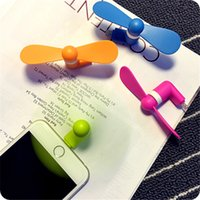 Wholesale Phone USB Mini Fan Flexible Portable Super Mute Cooler Cooling For Android Phone Iphone S S Plus