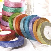 yard decorations for christmas - 10 Rolls mm m Yards Glitter Ribbons for Wedding Decorations Christmas Colorful Ribbons Sashes Gift Packing Ribbons DL91001