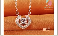Wholesale Lingdong Fashion carat lovers new AAA zircon inlaid Sterling Silver Pendant Necklace woman gift boutique