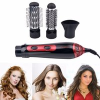 Wholesale 220 V Electric Hair Dryer Curler W Hairdryer Styler Hair Blow Dryer Machine Brush Comb Straightener Diffuser Styling Tool H211043