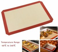 Wholesale Non toxic Large Size cm Baking Mat Non Stick Silicone Baking Pad For Cake Cookie Macaron Non Stick Baking Liner tea table mat