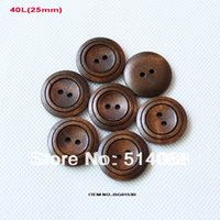 Wholesale holes wooden buttons kid s accessories sewing button bulk MM BG0153B