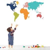 best live maps - Best Promotion Removable Colorful World Map Vinyl PVC Wall Sticker Wallpaper Home Decor Mural DIY Art x cm