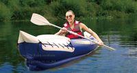 kayak - Aqua Marina presons inflatable kayak canoe cm Aluminium paddles air pump carry bag repair kit