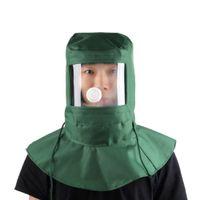 abrasive equipment - New Labor Face Mask Industrial Work Protection Mask Blasting Hood Sand Abrasive Grit Shot sand Blaster Mask Anti Dust Equipment