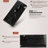 bag black friday - Black Friday Fashion Genuine Leather Women Clutch Wallet Fold Crocodile Head Woman s Purse Carteras Cellphone Bag