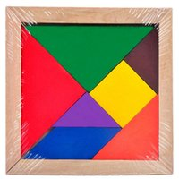 Wholesale New Children Mental Development Tangram Wooden Jigsaw Puzzle Educational Toys for Kids Plane puzzle kids HY737