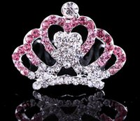 Wholesale Delicate and shining diamond children s crown princess crystal hair hoop children hair accessories children tire manufacturers selling