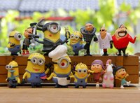 Wholesale Hot Real set Despicable Me Minion Character Display Figures Kid Toy Cake Toppers Decor Cartoon Movie PVC Action Figure