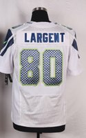 Wholesale Mens Soccer Rugby Jerseys Steve Largent Elite White Football Jersey Top Quality Embroidery Logo Can Mix Order