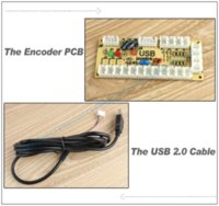 Wholesale Zero Delay Arcade USB Encoder PC to Joystick Control panel For MAME pin SANWA Type Push buttons