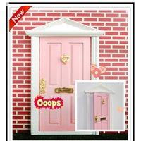 fairy door - 2016 pc doll fairy doors factory cute girls fairy doors children minature doors kids kindergraden photograph pink door