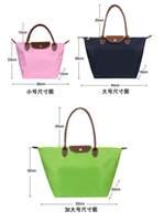 Wholesale Long Handle Tote Shopping Bag With Zipper travel bag Nylon WaterProof handbag Colorful bag