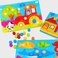 Wholesale Wooden Tangram Jigsaw Board Cartoon Toys Wood Puzzle Jigsaw for Children Kids Early Educational learning education Toys