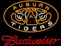 auburn tigers shop - NEON SIGN For NCAA College Basketball Auburn Tigers Budweiser GLASS Tube BEER BAR PUB store display Shop Light Signs quot