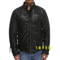 Wholesale Motorcycle Jackets Mens genuine leather jacket speed metal classic skull Embroidery Harley Leather jackets black coats