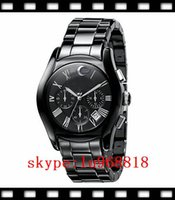 Wholesale TOP QUALITY BEST PRICE New Mens Ceramic Black Chronograph Dial Quartz Wrist Watch AR1400 Orignal Box