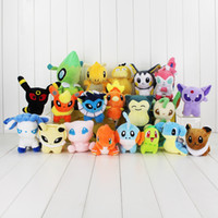 Wholesale Poke plush toys styles torchic Mewtwo Charmander eevee Pikachu cm Soft Stuffed Dolls toy New years Gift