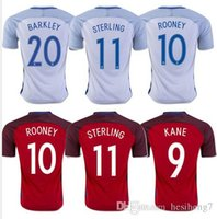 Wholesale 2016 England Soccer Jerseys Thai Quality Euro Cup HENDERSON16 WALCOTT KANE ROONEY STERLING BARKLEY RASHFORD football shirts