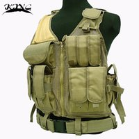 Wholesale vest long Tactical Molle VEST Airsoft Combat Pistol Vest Outdoor Hunting Training Men Waistcoat Protective Equipment