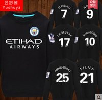 Wholesale 2017 the new leisure warm man cotton thin section long fleece turtleneck collar clothes take aguero jersey football fan