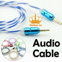 audio video speakers - New arrival audio Stereo AUX Car Audio Cable Male to Male Colorful Video Cable Line for Phones MP3 Speaker PC