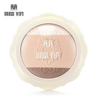antioxidants red wine - Quality goods Yifi Miss Tricolor powder High light solid powder Stereo makeup powder modification Makeup DHL FREE