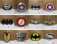 Wholesale 2016 New Super Heroes superhero captain America batman Big Belt Buckle Buckles High Quality
