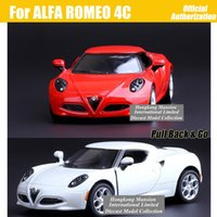 alfa romeo white - 1 Scale Alloy Metal Diecast Sports Car Model For ALFA ROMEO C Collection Model Pull Back Toys Car Red Gray White Black