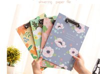 Wholesale 4pcs Price cm A4 folder board Clip Notes file folder clip notes paper stationery writing pad