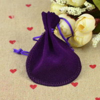 Wholesale Fashion Flannel bags for jewelry ring necklace gift bags wedding packaging display CM o P100