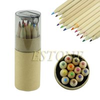 Wholesale 12Pc Mini Cute Child Gift Wooden Painting Writing Colors Pencils W Sharpener