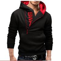 achat en gros de tirette col roulé sweatshirt-M-5XL 5 couleurs de vêtements de sport pour hommes à côté de fermeture à glissière manteau à capuchon AutumnWinter Turtleneck hommes hip hop sweat-shirt