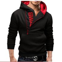 Wholesale Plus Size M XL Colors Men s Sportswear Clothing Side Zipper Hooded Coat Autumn amp Winter Turtleneck Men Hip Hop Sweatshirt