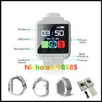 Wholesale Bluetooth U8 Smart Watch Wrist Watches Support SIM Card Without Altimeter For Android Phone With Retail Box VS DZ09 GT08 A1 W8 Apple Watch