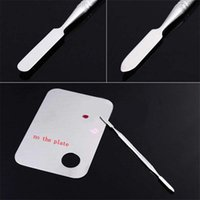Wholesale Women Pro Stainless Steel Cosmetic Makeup Palette Spatula Tool Nail Art Beauty