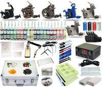 tattoo kits 5 guns - Good Quality Best Price USA Complete Tattoo Kit machine Gun Power Supply TK Color Inks freeshipUSA