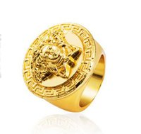 Wholesale Hot sale new tide alloy of gold plating ring ring that never fades