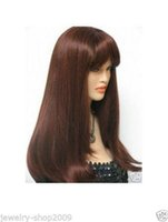 auburn hair color pictures - New High Quality Fashion Picture full lace wigs gt gt New wig Cosplay long auburn mixed Straight hair wigs