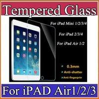 Wholesale For iPad mini iPad Mini iPad Air Tempered Glass Screen Protecter Screen Guard for Ipad Air with h Hardness Ultra thin A PG