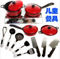 Wholesale Child Kid Baby Kitchen Ware Cooking Pretend Play Toy Cooker Set Pan Turner Safe dandys
