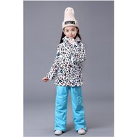 Wholesale Freeing Shopping GSOU SNOW children s ski suits girls ski suit ski suits leopard paternity