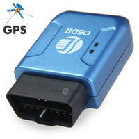 Wholesale 2015 New GPS306A TK206 OBD Real Time GSM Quad Band Anti theft Vibration Alarm GSM GPRS Mini GPRS Car Tracker Tracking OBD II